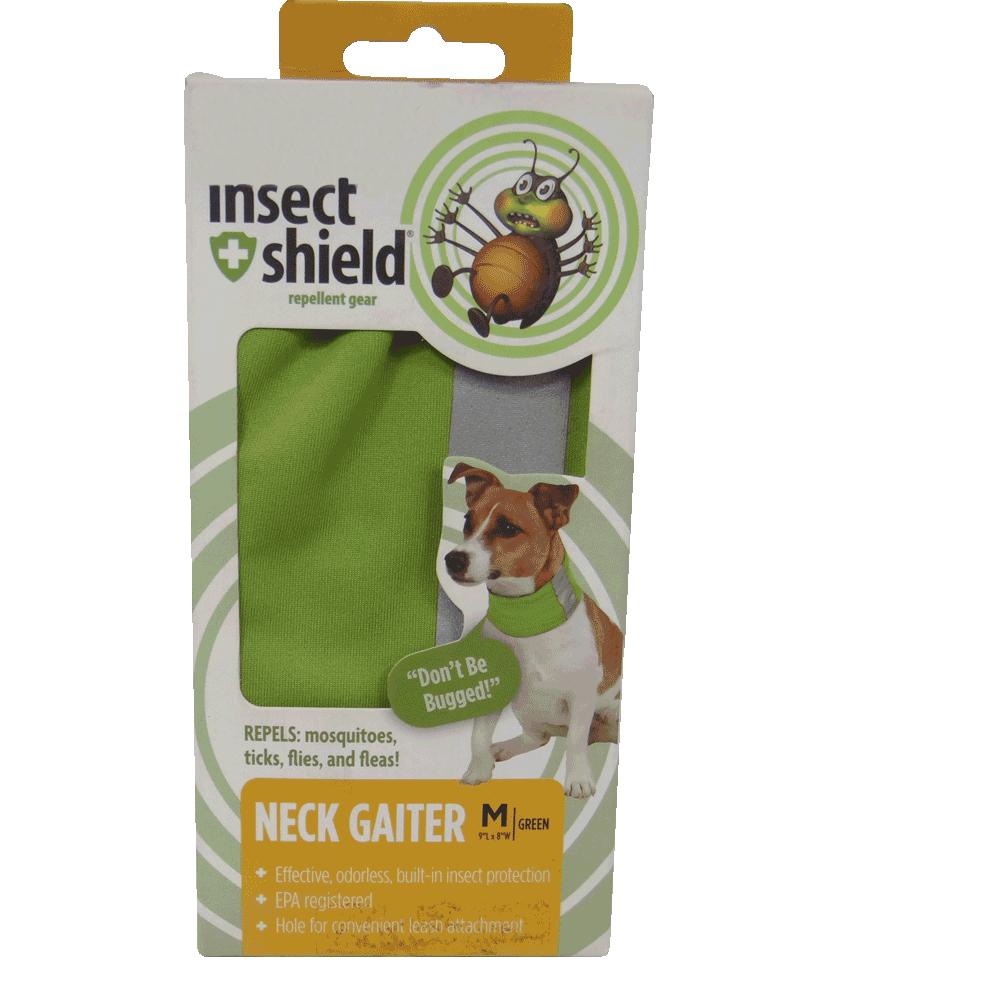 Caja de Polaina de Cuello Repelente Para Perros Verde Insect Shield talla mediana en su empaque original