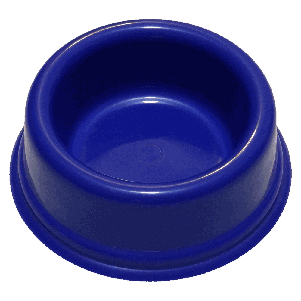 Imagen de Plato Plástico Redondo Pequeño color azul para perros pequeños y gatos