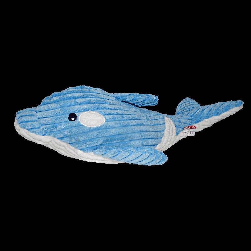 Delfín azul con blanco de peluche relleno de felpa de Dogit Luvz Delfín Azul juguete para perros