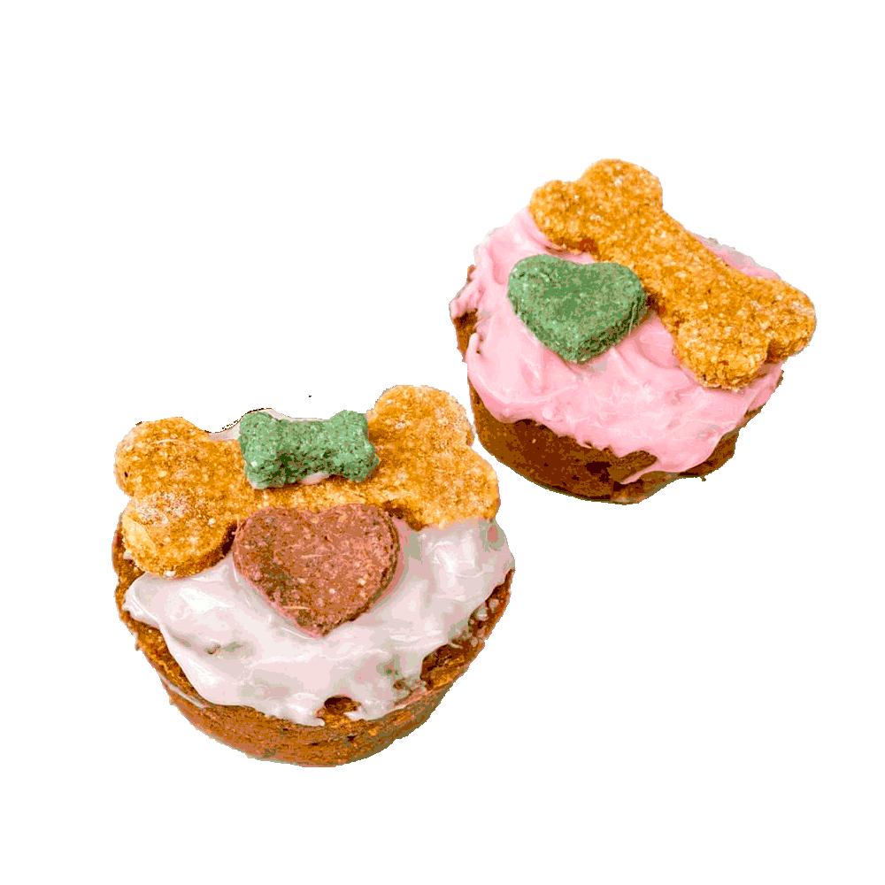 Imagen de Muffins Pet Bakery decorados con huesitos horneados