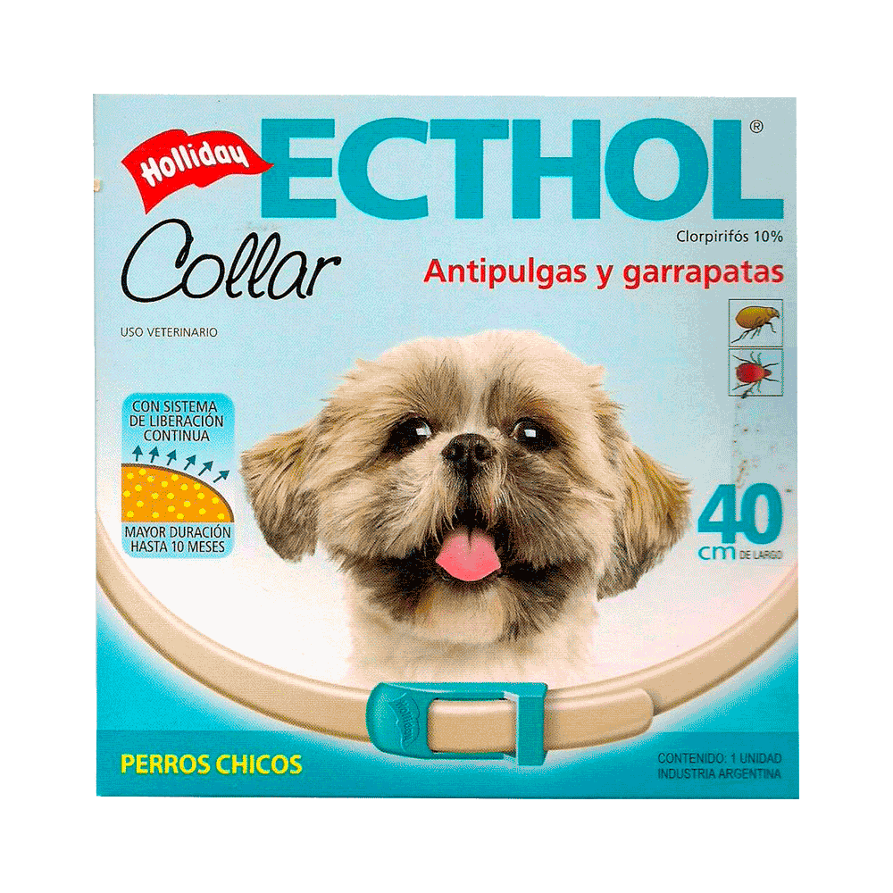 Imagen de collar antiparasitario Holliday Ecthol para perros de 40 cm